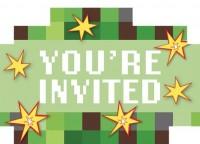 8 TNT Pixel Party Einladungskarten