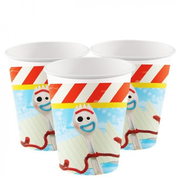 8 Toy Story 4 Pappbecher 266ml