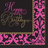 36 Fabulous Birthday Servietten 33cm