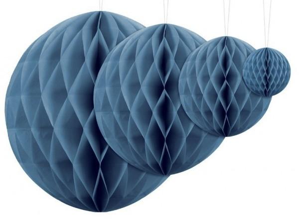 Bola nido de abeja Lumina azul 10cm