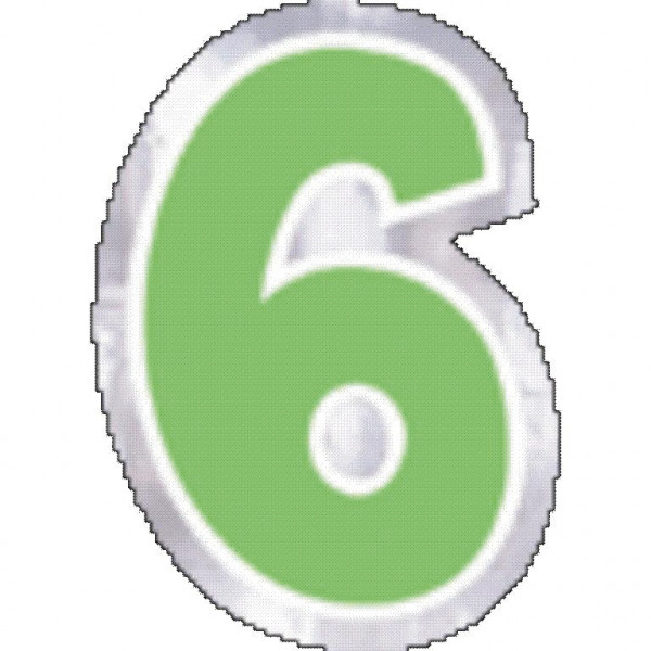 48 balloon stickers number 6