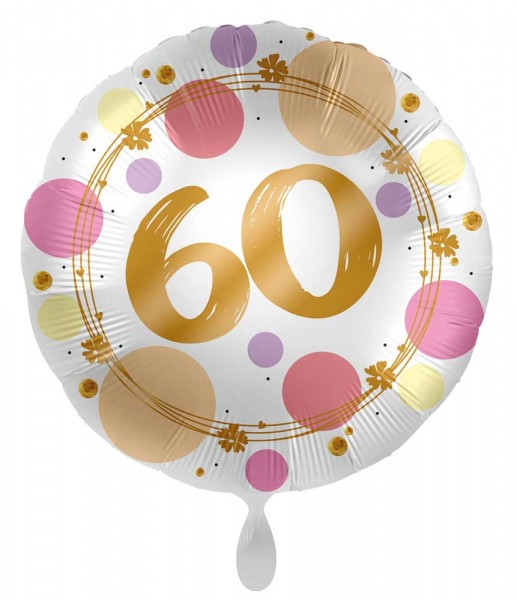 Ballon 60e anniversaire Happy Dots 45cm
