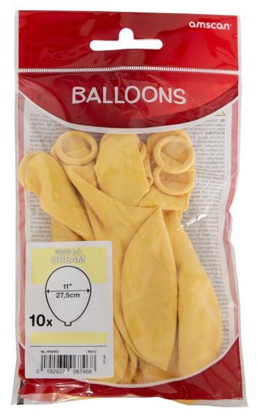 10 Vanille Luftballons Basel 27,5cm