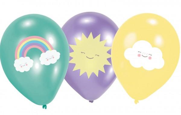 6 sweet cloud world balloons 27.5cm
