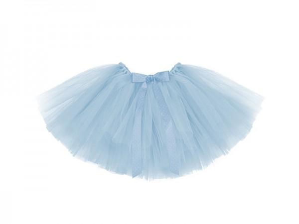 Jupe en tulle tutu bleu ciel avec noeud tour de taille 50cm