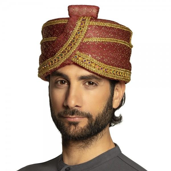 Glitzernder Sultan Turban rot
