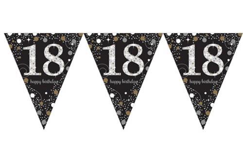 Golden 18th Birthday Wimpelkette 4m 3