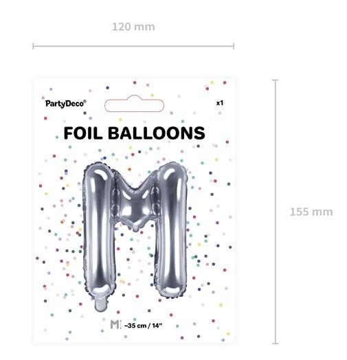 Ballon aluminium M argent 35cm