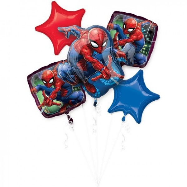 Spiderman Folienballon-Bouquet 5-teilig