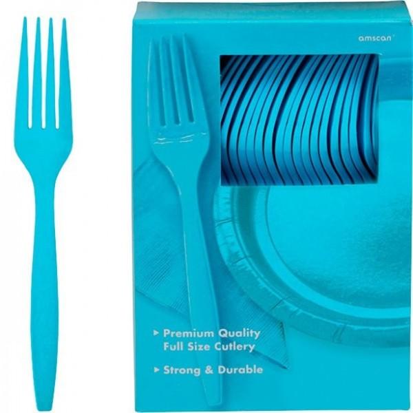 100 forchette di plastica turchese