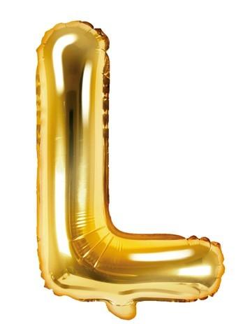 Folienballon L gold 35cm