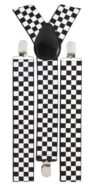 Ska Suspenders In Chess Pattern