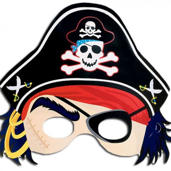 Máscara de cartón pirata divertida