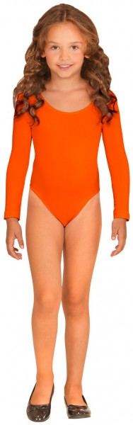 Body enfant manches longues orange