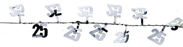 Congratulazioni Per il 25 ° anniversario filo ghirlanda argento 270 centimetri