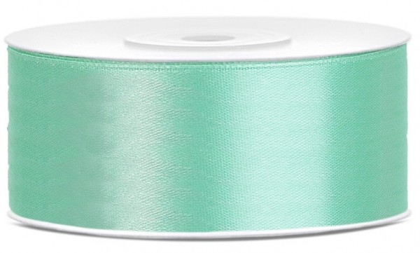 Nastro regalo in raso in colori menta 25mm x 25m