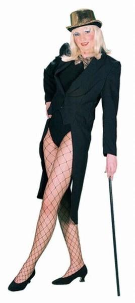 Schwarzer Eleganter Damen Frack