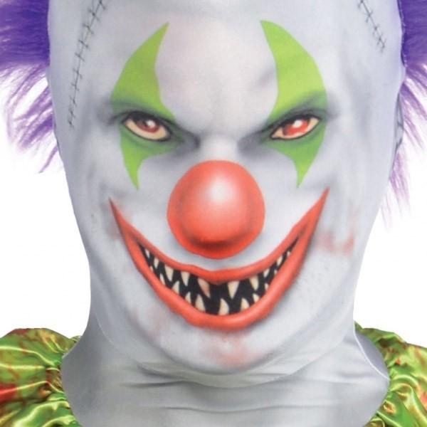 Bunter Horror Clown Morphsuit für Kinder