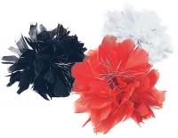 Blumen Haarclip Mit Federn und Lametta-Fäden
