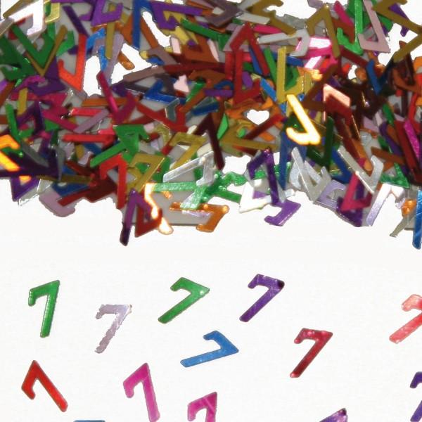 Colorful confetti 7th birthday
