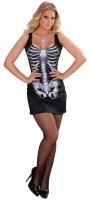 Kurzes 3D Skelettkleid Für Damen Schwarz