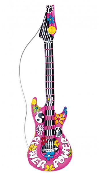 Flower-Power Gitarre Aufblasbar 1