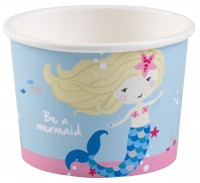 8 Eis-Pappbecher Sei eine Meerjungfrau