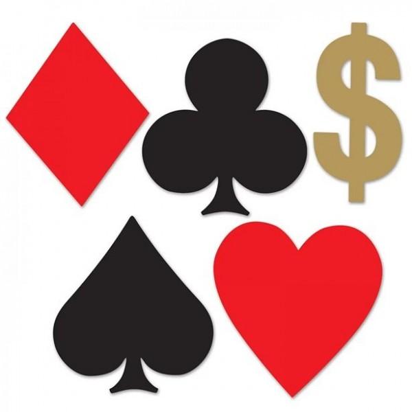 Mini cartes à jouer découpes carton 12cm