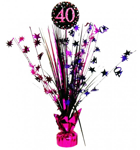 Pink 40th Birthday table fountain 46cm