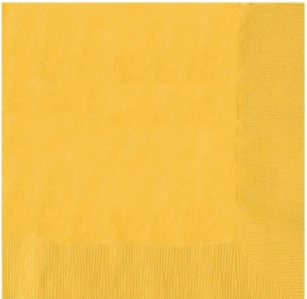 50 serviettes Susi Sunshine 25cm