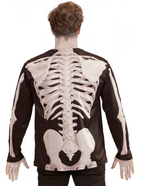 Camicia scheletrica fotorealistica per uomo