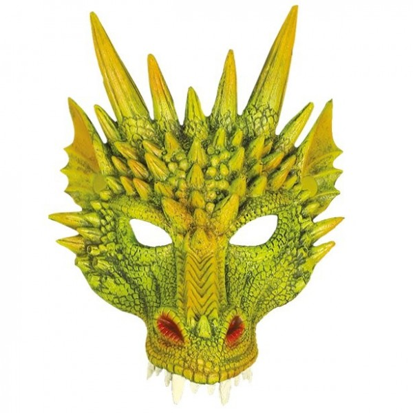 Mezza maschera drago per adulto