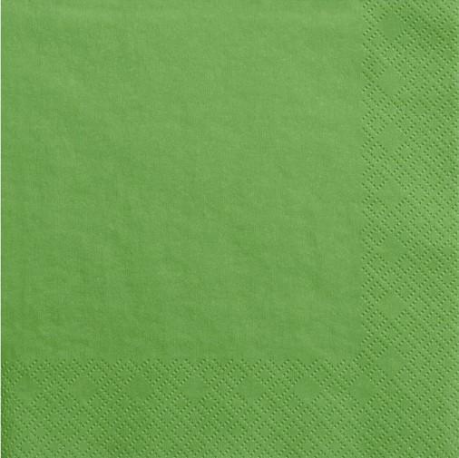 20 Servietten Scarlett grün 33cm