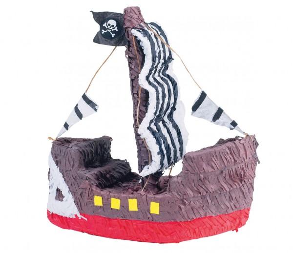 Große Piratenschiff Pinata 40x38cm