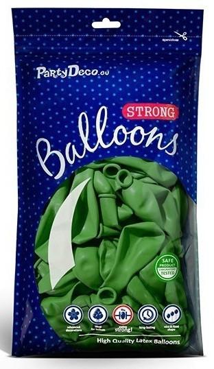 10 ballons étoiles vert pomme 30cm