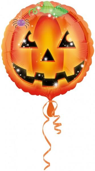 Playful Pumpkin Foil Balloon 45cm