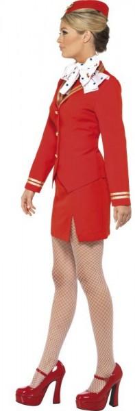 Rotes Kurzes Stewardess Damenkostüm
