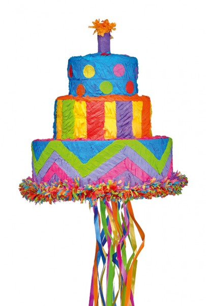 Piñata tarta de cumpleaños 27X30cm