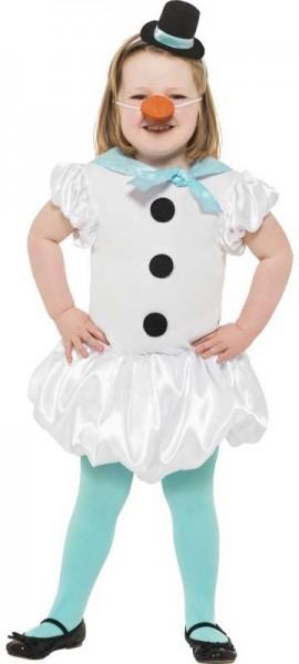 Snow woman ballerina child costume