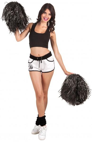 Schwarze Cheerleader Pompon Puschel