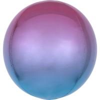 Ombré Orbz Ballon lila-blau 40cm