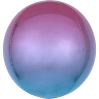 Ombré Folienballon lila-blau 40cm