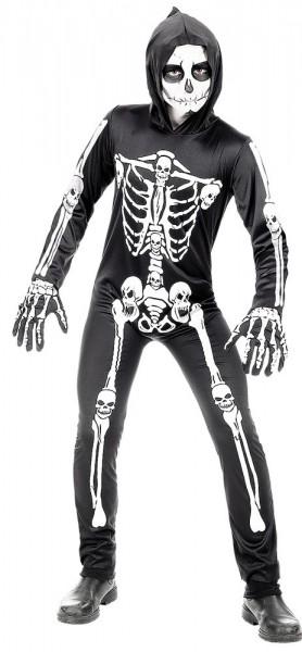 Schauriges Skelett Overall für Kinder