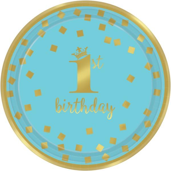 8 Bluestar 1st Birthday Teller 18cm