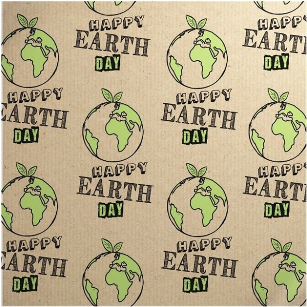 Wrapping paper Happy Earth Day Eco