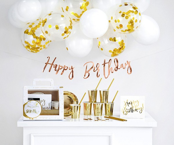 Happy Birthday Party Set 60-teilig gold