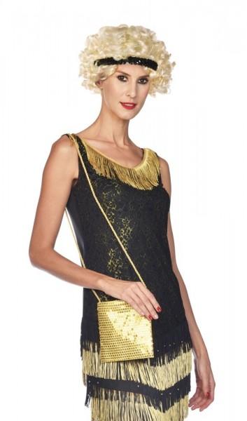 Goldene Pailletten Tasche Caroline