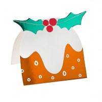 4 Weihnachtspudding Tischkarten