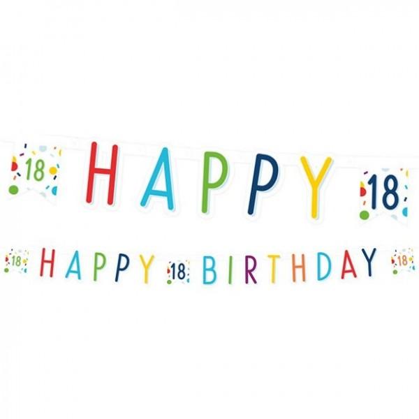 Guirlande de confettis 18ème anniversaire 180cm