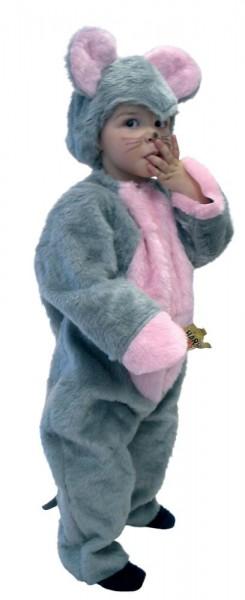 Plüschiges Mäusekostüm Für Kleinkinder